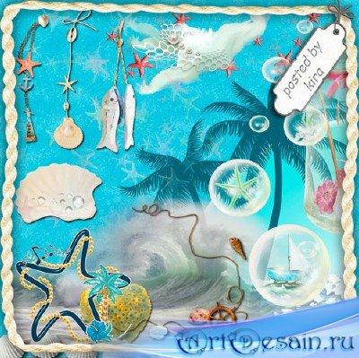 Клипарт  - Элементы для морского декора
