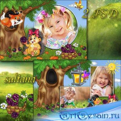 Детские рамки для фотошопа - Поспела ежевика