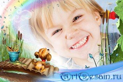 Детская рамочка для фотографий - Твое веселое детство