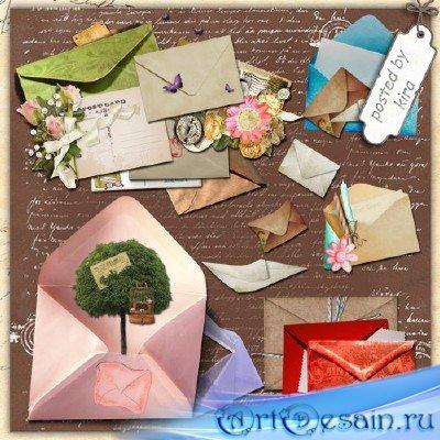 Клипарт на прозрачном фоне  - Письма и конверты