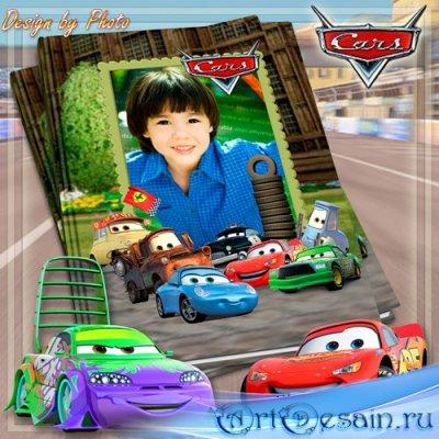 Детская фотокнига с героями мультфильма Тачки