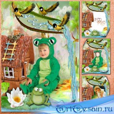 Детская фоторамка с  костюмом - Моё лесное царство