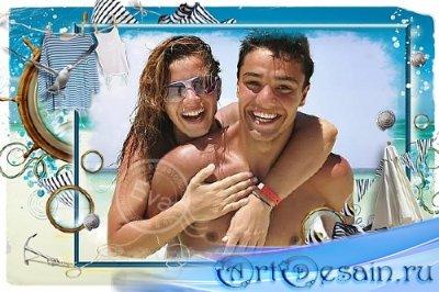 Рамка для фотошоп - Летние воспоминания о море