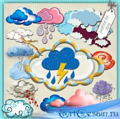 Клипарт - Необычные облака на прозрачном фоне