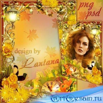 Рамка для фото - Желтые цветы, им краски яркие дала природа