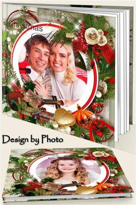 Красивая семейная фотокнига - Рождественская мелодия