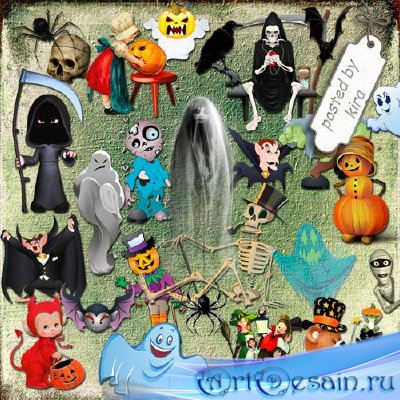 Клипарт - Персонажи к Хэллоуину (кроме ведьм)