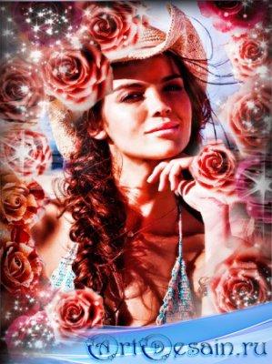 Красивая рамочка photoshop - Розы розы розы...