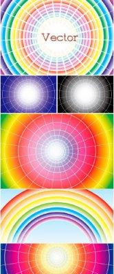 Декоративные абстрактные фоны в Векторе – Радужный спектр