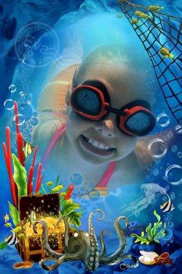 Детская рамка для фотографий - Сказочный подводный мир