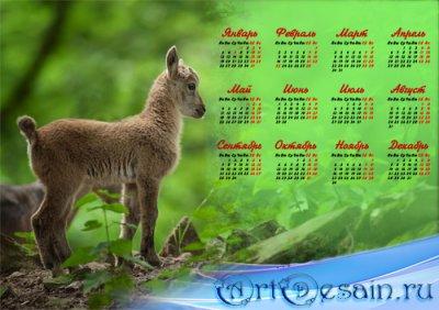 Календарь - Маленький милый козленок