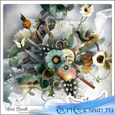 Винтажный скрап-комплект - Дыхание ветра