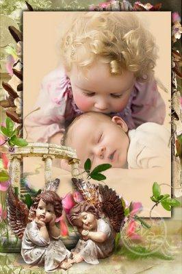 Детская рамочка для фото - Спящий ангел