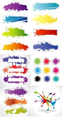 Цветные пятна и полосы  - векторный клипарт