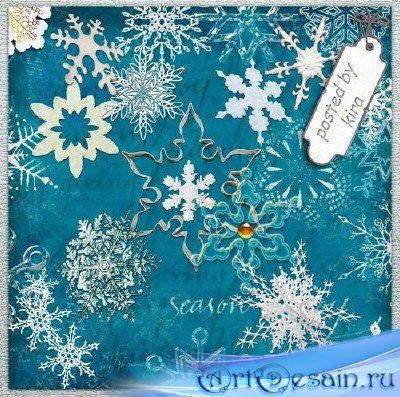 Зимний клипарт - Снежинки