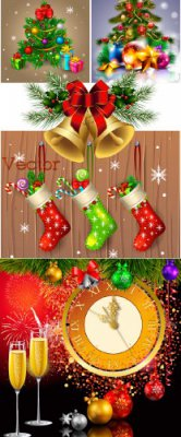Новогодние фоны в Векторе – Праздничный фейерверк