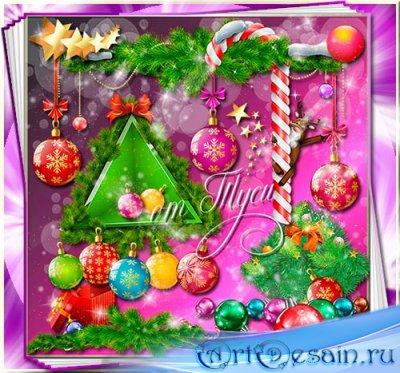 Новогодний Клипарт - Цвет и блеск новогодней ночи