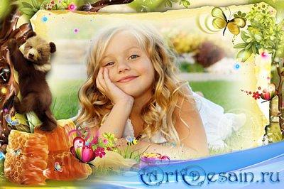 Детская рамка для фотографий - Люблю мёд