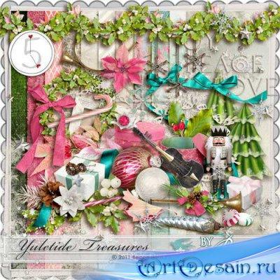 Новогодний скрап-комплект - Рождественские сокровища