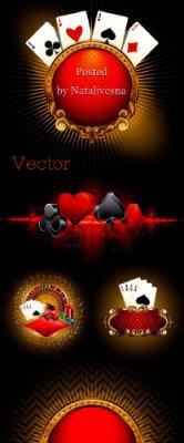 Подборка векторного клипарта – Казино, Покер