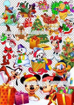 Детский новогодний, рождественский клипарт для фотошопа - Герои любимых мул ...
