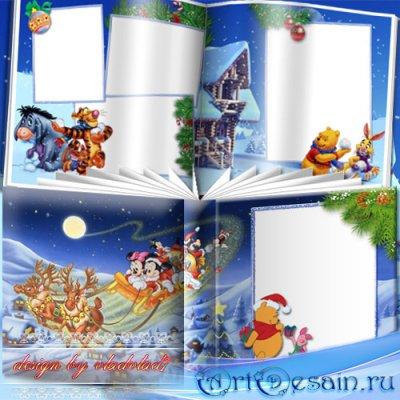 Детская фотокнига с персонажами Диснея - Новый год