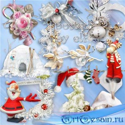 Пусть желанья исполняет, добрый праздник Новый Год - клипарт в PNG