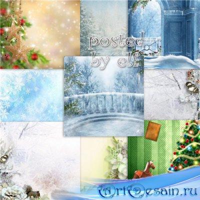 Чародейка зима - набор фонов