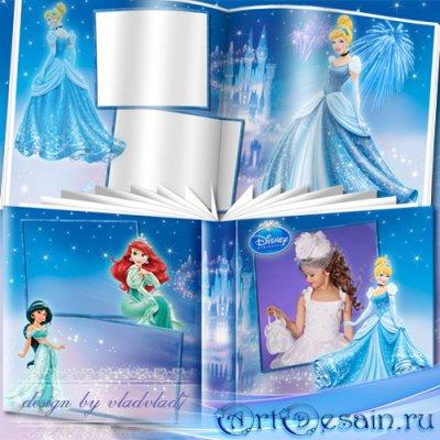 Фотоальбом для девочек - Принцессы Диснея и сказочный замок