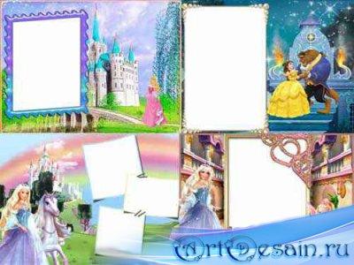 Скачать Фоторамки для девочек - Принцессы