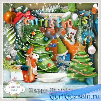Новогодний скрап-комплект - Happy Christmas