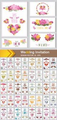 Шаблоны для свадебных приглашений