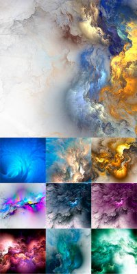 Абрстактные разноцветные фоны - растровый клипарт