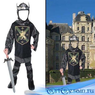 Шаблон для малышей - В костюме рыцаря