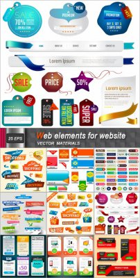 Web элементы и баннеры для сайта