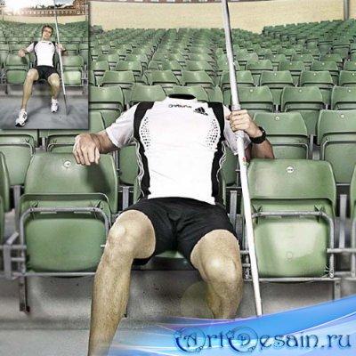 Шаблон мужской - Спортсмен с шестом