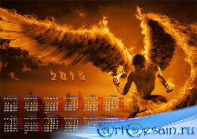 Календарь на 2015 год - Ангел с крыльями