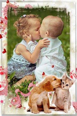 Детская рамка для фотошопа - Моя первая любовь