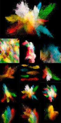 Разноцветная пудра - растровый клипарт