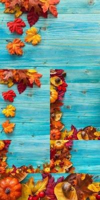 Осенние фоны - растровый клипарт
