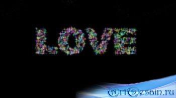 Романтический футаж - LOVE