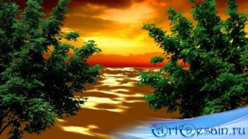 Футаж - Зарево на море