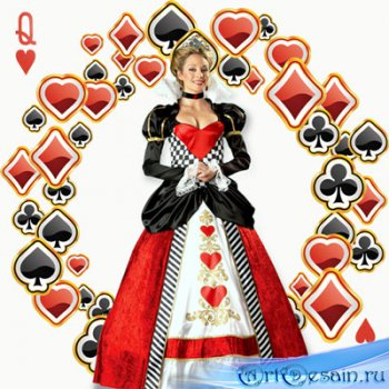 Шаблон  женский – Карточная королева