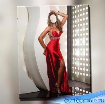 Шаблон женский - В красном платье
