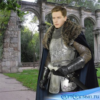 Шаблон  мужской - Молодой рыцарь