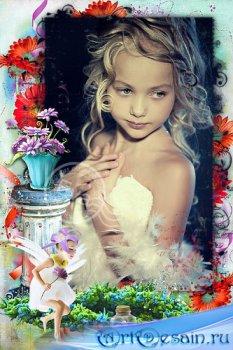Детская рамочка для фото - Маленькая лесная фея