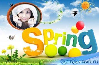 Рамка для фото - Теплая весна