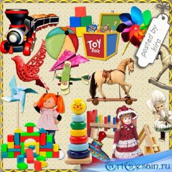 Клипарт в png - Машинки, куклы, мячи, лошадки и другие игрушки