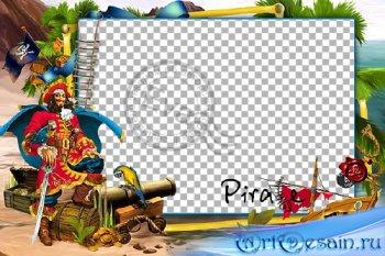 Детская рамочка для фотошопа - Веселый пират