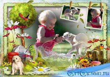Детская фоторамочка - Наше счастливое детство